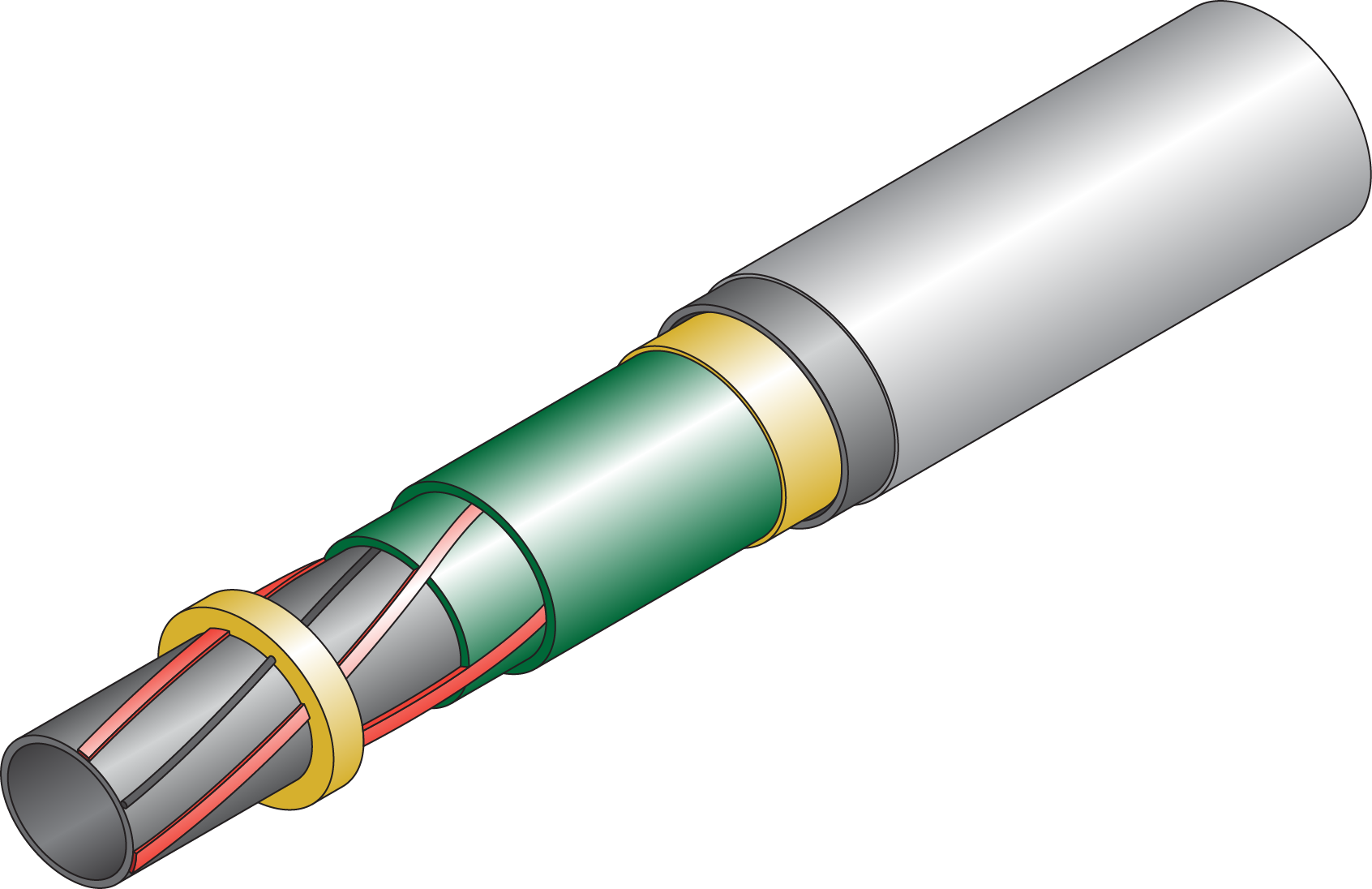 Electrically trace heated pipe-in-pipe